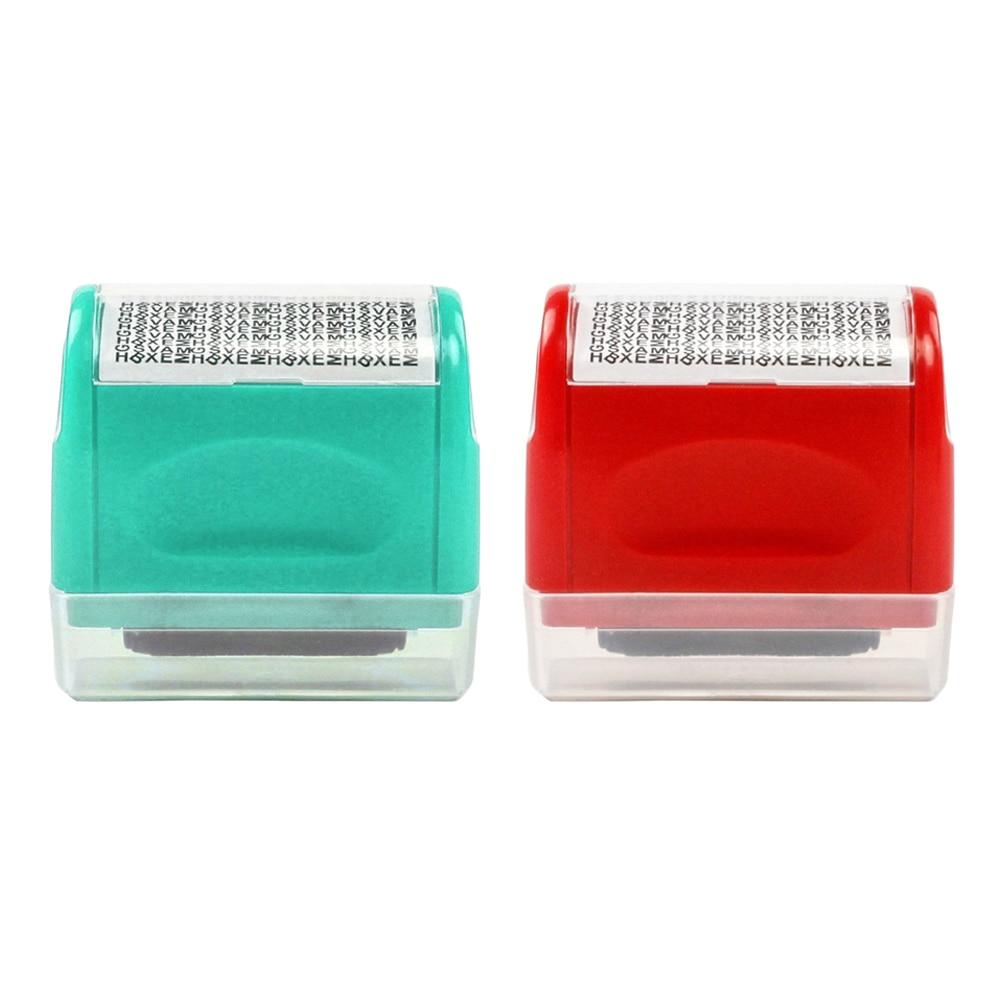 15mm Tampon Rouleau Sécurité Protéger Information ID Iden Roller Stamp Seal Code