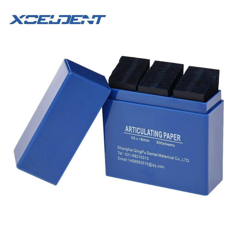Новинка 300 лист/коробка артикуляционная бумага синие полоски Стоматологическая лабораторная продукция стоматологический уход за зубами отбеливающий материал инструмент 55*18 мм
