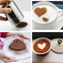 1PC Stainless Steel Chocolate Shaker Cocoa Flour Icing Sugar Powder Coffee Sifter Lid