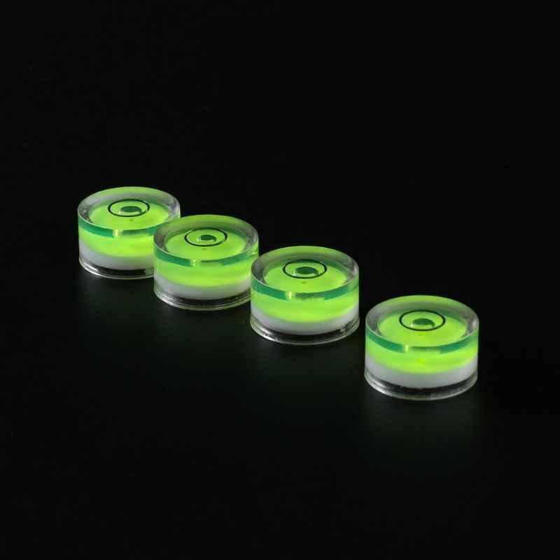 4 個 12 × 6 ミリメートルターンテーブルプレーヤーレベラー LP ビニールレコード精神バブル度 Tonearms セットレベルフォノためカートリッジ針 CD