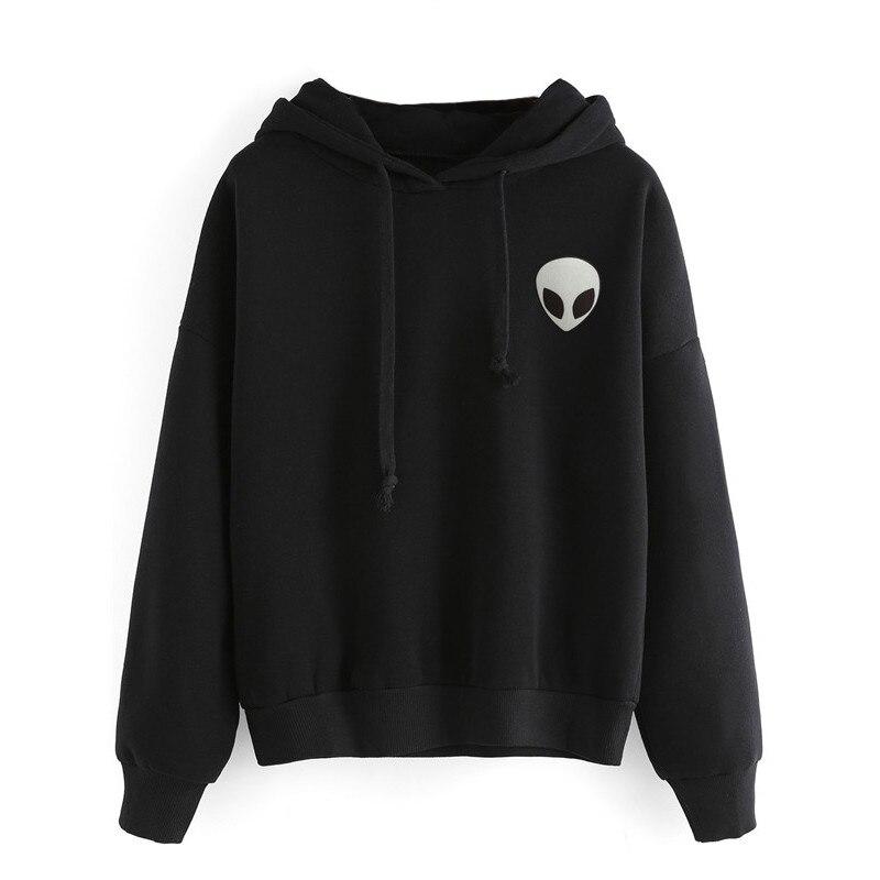 Alien Hooded Hoodies Sweatshirts EuropeTops 2019 Women Casual Kawaii Harajuku Kpop Sweat Punk For Girls Clothing Korean