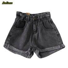 Smlinan женские летние джинсовые шорты винтажные с завышенной