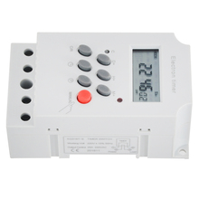 KG316T-II Electronic Timer AC 220V 25A Din Rail Digital Programmable Electronic Timer Switch Electric Equipment Control on/off ahc15 ac 220v digital lcd power timer programmable time switch relay 25a 16a good temporizador with din rail good quality