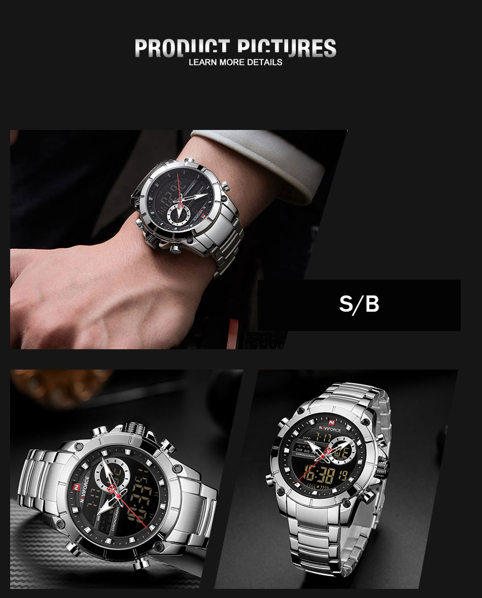 H779723ed05664dcf8073412d5d17d279l Top Brand Men Watches NAVIFORCE Fashion Luxury Quartz Watch Mens Military Chronograph Sports Wristwatch Clock Relogio Masculino