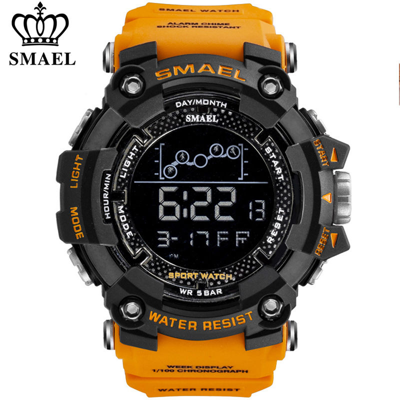 SMAEL Mens Watch Military Waterproof Sport Wrist Watch Digital Stopwatches For Men 1802 Military Watches Male Relogio Masculino|Digital Watches| - AliExpress
