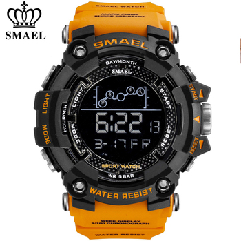 SMAEL Mens Watch Military Waterproof Sport Wrist Digital Stopwatches For Men 1802 Watches Male Relogio Masculino - discount item  52% OFF Men's Watches