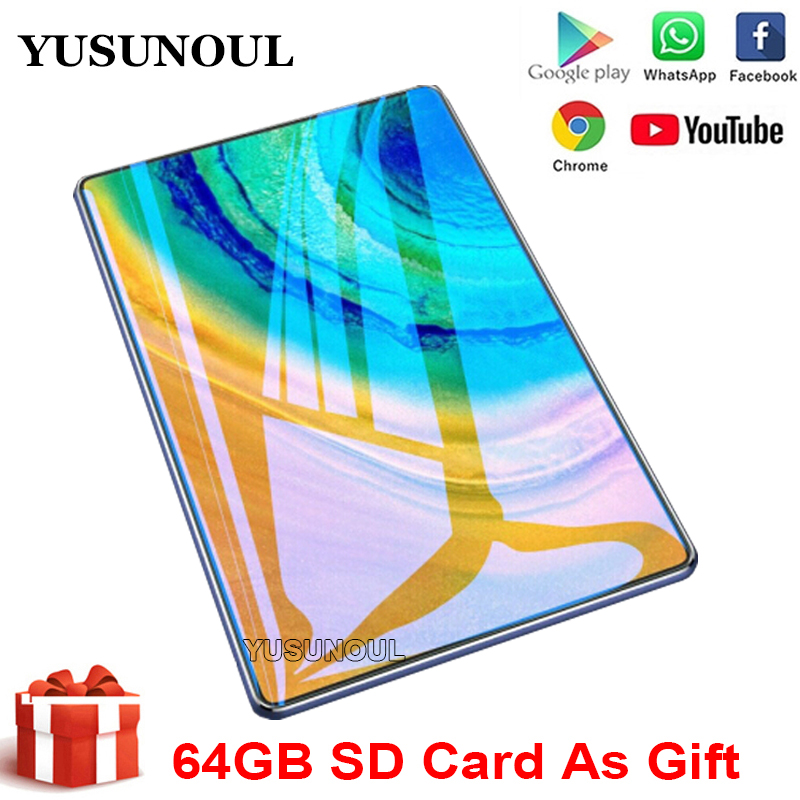 2020 New Design10 inch Tablet Android 9.0 Dual SIM/amera Tablette 2GB 32GB Wifi Bluetooth Android Tablets PC with GPS Phone Call