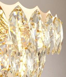 Image 5 - Plafonnier suspendu en cristal, style américain, produit de créateur, design moderne, création de designer, luminaire dintérieur, idéal pour un salon, une villa, une salle à manger, une chambre à coucher