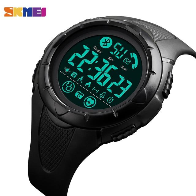 Marque SKMEI montre hommes montre intelligente de luxe sommeil moniteur de fréquence cardiaque Smartwatch étanche montres numériques hommes horloge Android IOS