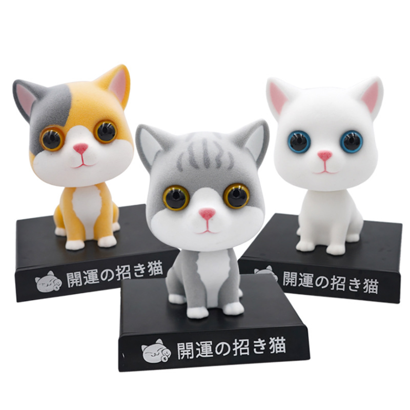 11cm Flocked cat shakes head doll <font><b>car</b></font> <font><b>accessories</b></font> <font><b>mobile</b></font> <font><b>phone</b></font> bracket high grade lovely desktop <font><b>accessories</b></font> <font><b>car</b></font> decoration gift image