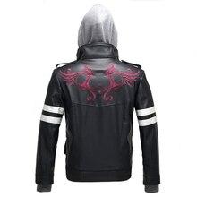 Alta qualidade novo protótipo alex mercer cosplay traje bordado jaqueta de couro do plutônio casaco trajes de halloween para mulher/homem S 4XL
