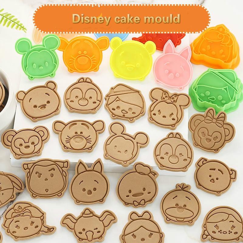 Disney Anime Figura pastel Molde de galletas 3D Diy juguete de Mickey Mouse historia Woody Chip n Dale pastel original galletas herramienta de molde
