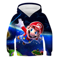 Harajuku Games Mario Bros Boys Cartoon Hoodies Children 3D Print Clothes Sweaters for Teens Kids Baby Kawaii Girls Pullover Tops
