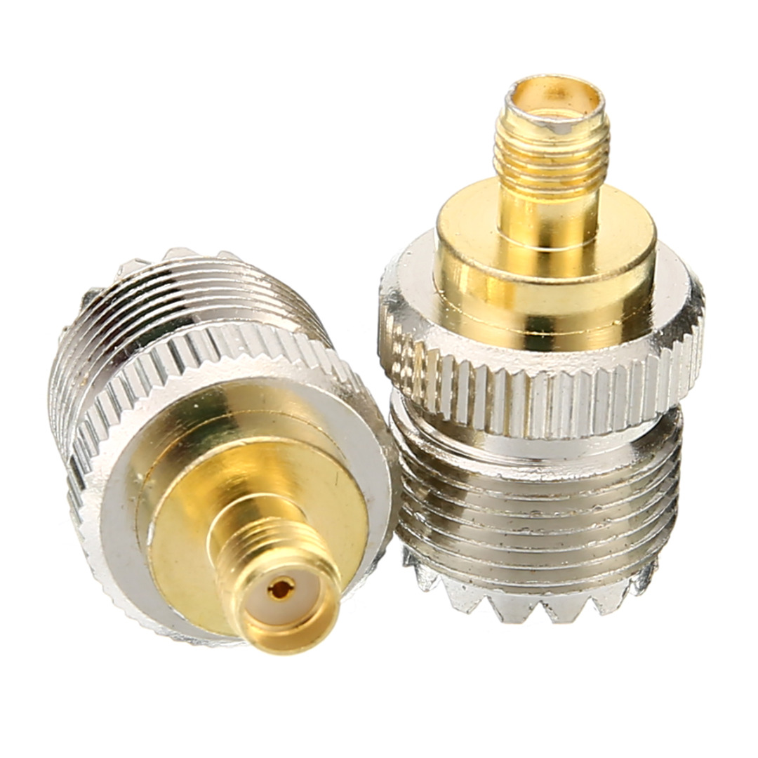 2pcs Antenna Adapter SMA Female To UHF Female Connector RF Coax Coaxial Adapters For Baofeng UV-5R PX-777 PX-888