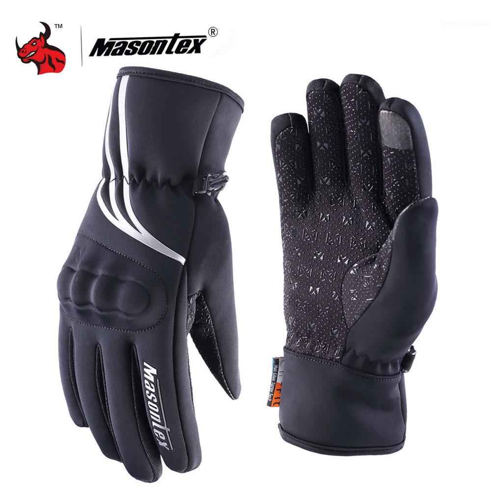 Mens Winter Driving Motorcycle Gloves Waterproof