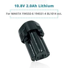 10.8 Volt/12V 2.0Ah Lithium Ion Tools Battery for Makita 2000mAh BL1013 BL1014 CL100DW CL100DZ CL102DZX LCT203W
