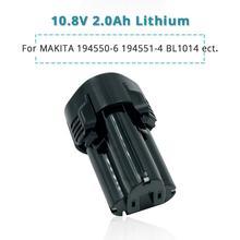 10.8 Volt/12V 2.0Ah lityum İyon araçları Makita pili 2000mAh BL1013 BL1014 CL100DW CL100DZ CL102DZX LCT203W