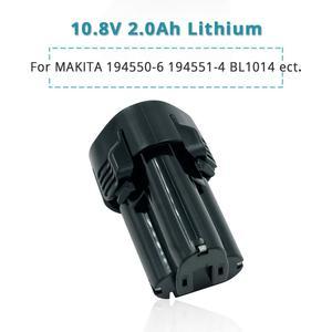 Image 1 - Bateria das ferramentas do lítio íon de 10.8 volts/12v 2.0ah para makita 2000mah bl1013 bl1014 cl100dw cl100dz cl102dzx lct203w