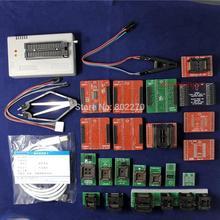 Edición negra V10.27 XGecu TL866II Plus PROGRAMADOR USB 15000 + IC SPI Flash NAND EEPROM MCU PIC AVR + adaptador de 23 Uds + te8 Testclip