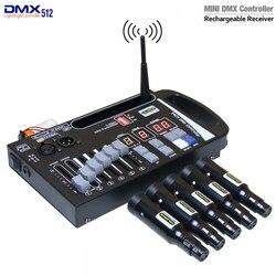 Novo receptor transmissor sem fio dmx led controlador de luz laser controlador muito conveniência para o estágio em movimento
