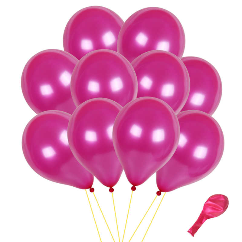 100pcs 10 inche Pearl Latex Balloon 15 Colors Inflatable Wedding Decorations Air Ball Happy Birthday Party Supplies Balloons