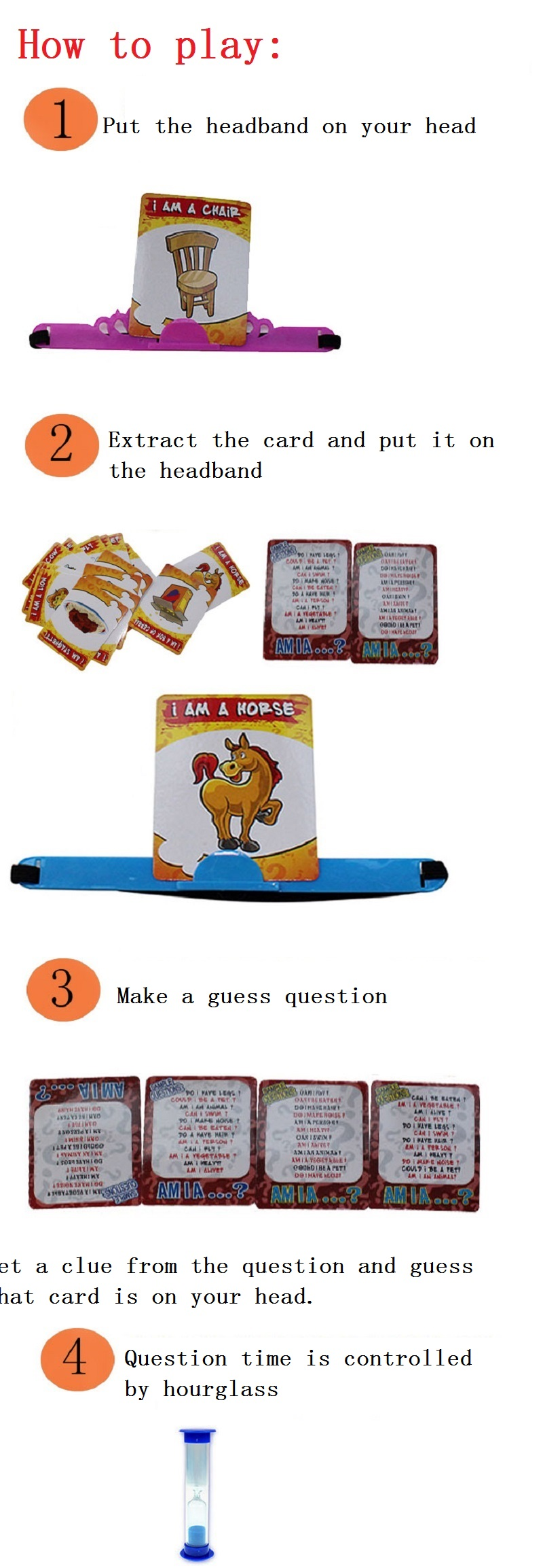 Kids Funny Toys The Quick Question of What am I Cards Board Game Funny Gadgets Novelty Toys For Children (1)