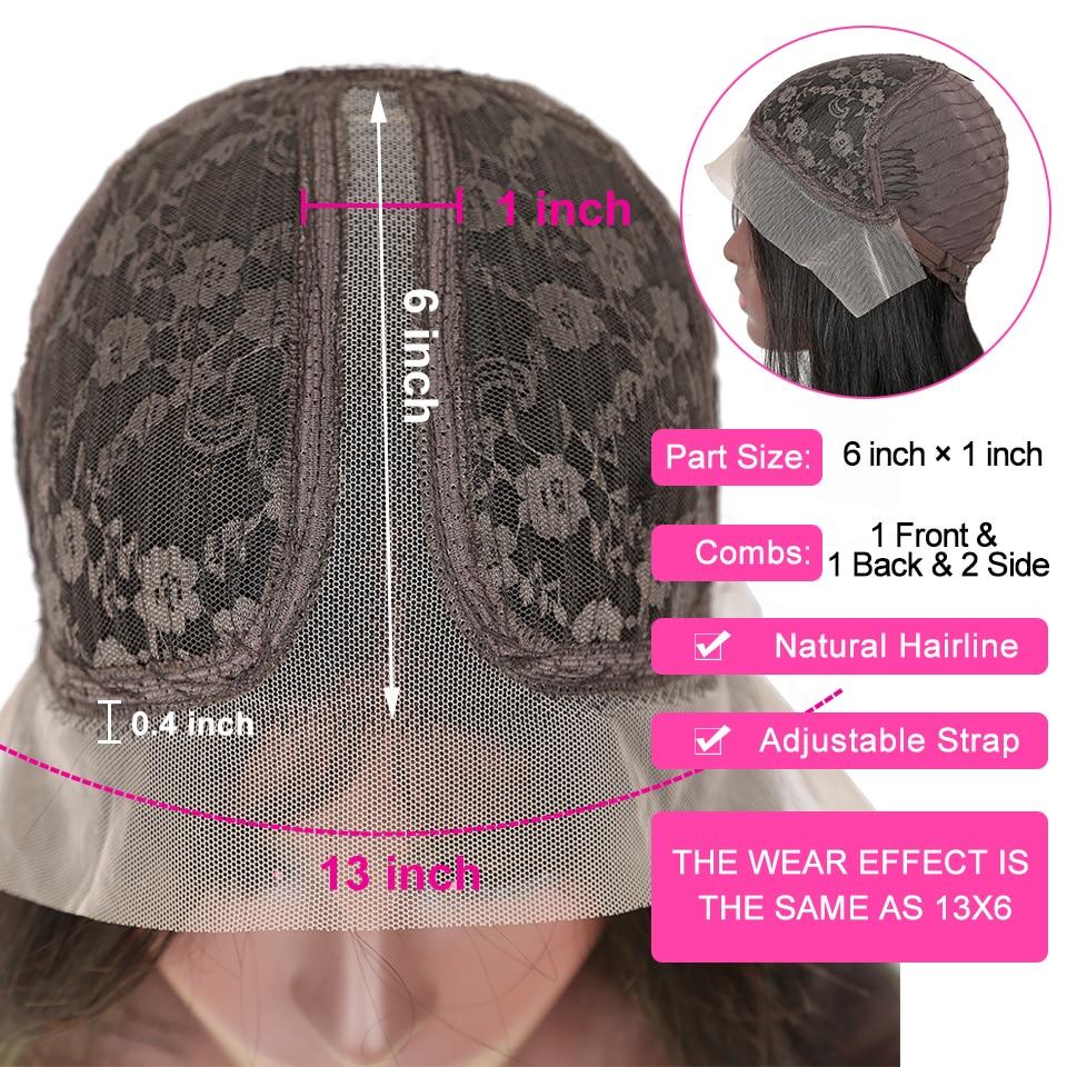 YYong 1x4& 1x6 Topline Lace Part Wig Body Wave Part Lace  Wig   Body Wave HD Transparent Lace Wigs 120% 2