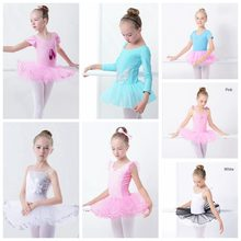 Sales Toddler Girls Ballet Tutu Dress Sequin White Leotards Sleeveless Gymnastics Swim Suit For Dancing