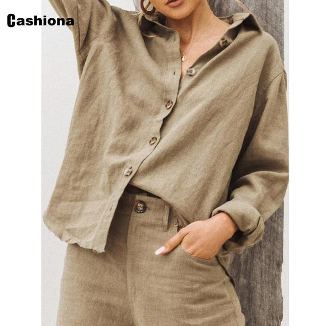 Women Lepal Collar Leisure Blouse Plus Size Ladies Top Cotton Linen Shirts Feminina blusas shirt ropa mujer womens clothing 2021 2