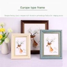 6/8/10 pulgadas A4 Vintage estilo europeo marco de foto póster marco negro nogal roble blanco nuevo