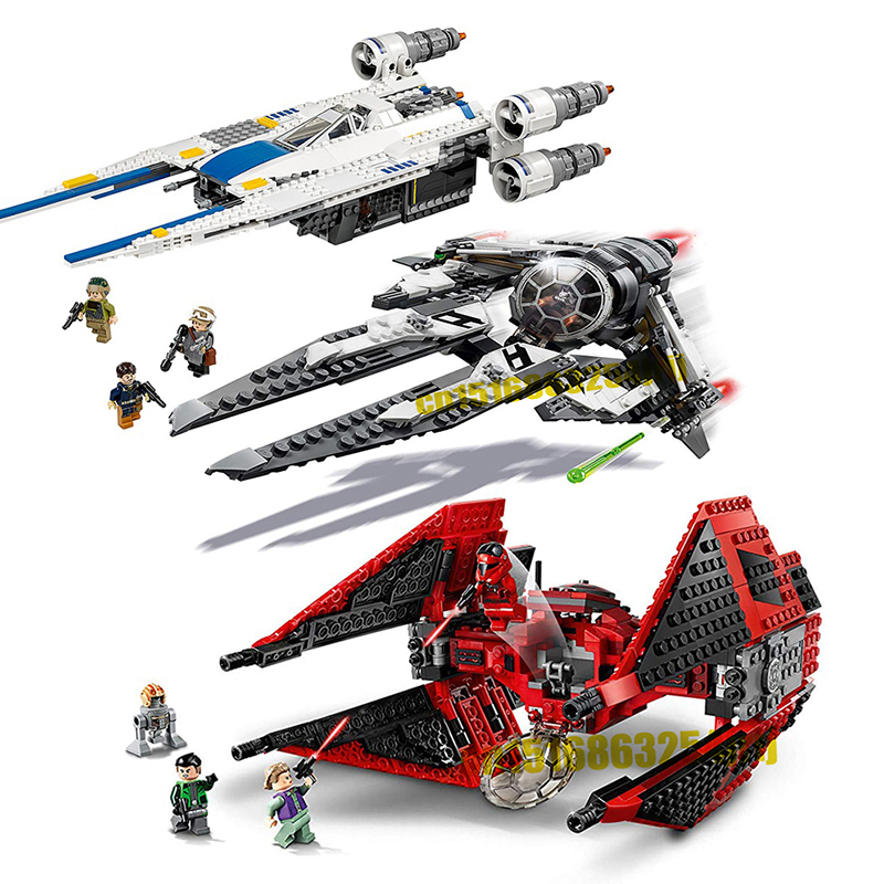 2020 NEW Compatible Lepining Star Wars 75240 75218 The Rebel U Wing Fighter Jets Model Building Blocks Bricks Toys Kids Gifts