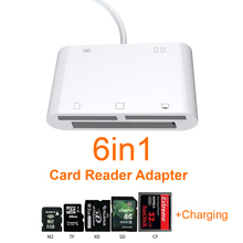 6in1 SD TF SDHC CF XD M2 Card Reader Charging Adapter for IPhone X XS MAX XR 11 Pro Max 12 13 5 5S 6 7 8 Plus For iPad