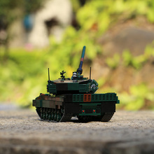 WW2 XINGBAO The Germay Leopard-2A6 Main Battle Tank Military Model Armored Vehicle Building Blocks Bricks Toys Birthday Gifts xingbao technic new military series 06033 the uk challenger2 main battle tank model blocks bricks toys figure christmas gifts