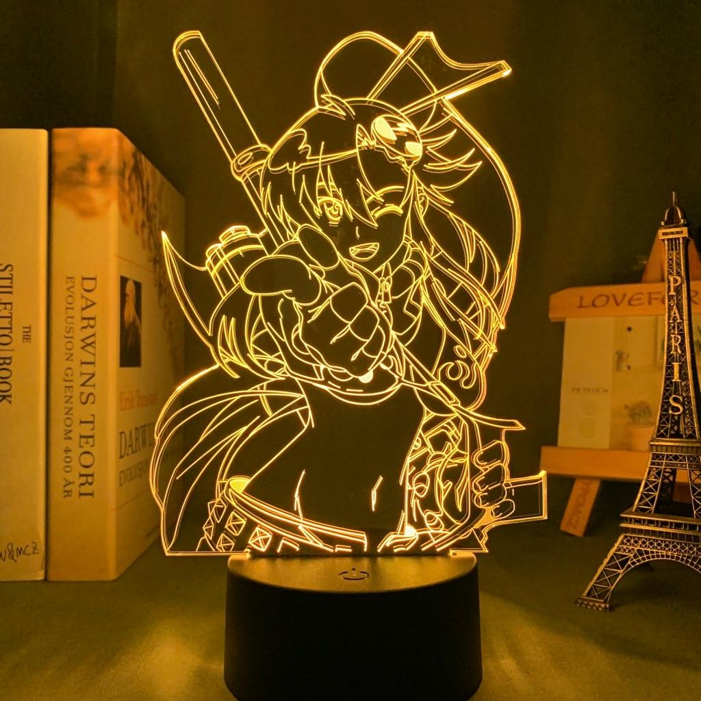 H77981c8af4a34e5c9277b657c16d82b83 Luminária Anime gurren lagann yoko luz conduzida da noite para o quarto decoração presente de aniversário noite lâmpada yoko littner luz gurren lagann gadget