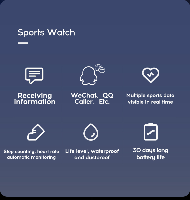 LYKRY 116 plus Smart Bracelet Fitness Tracker Heart Rate Blood Pressure Monitor Smart Band IP67 Waterproof Sports For Android IOS+Box (5)