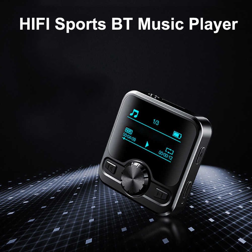 HIFI 1,2 pulgadas Mini reproductor de música MP3 8GB reproducción de música pantalla LCD deportes Bluetooth reproductor MP3 Hifi impermeable MP3 walderman