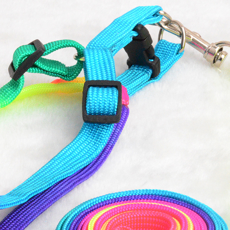 Colorful-Rainbow-Pet-Dog-Collar-Harness-Leash-Soft-Walking-Harness-Lead-Colorful-and-Durable-Traction-Rope (4)