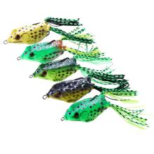 5pc Fishing Lure Artificial Fishing Silicone Bait Frog Lure with Hook Soft Fishing Frog Lures fishing tackle silicone bait wobblers artificial bait fishing lure soft lure 10cm 3 6g swimbaits lures for fishing bionic lure fishing gear