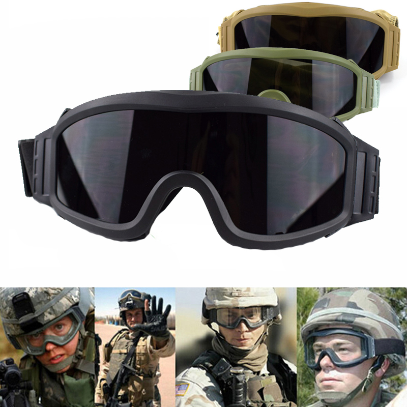 Hunting Shooting Glasses 3 Interchangeable Lens Anti-Fog Military Combat Goggles Airsoft Paintball Sport Tactical Glasses