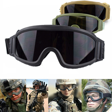 Hunting Shooting Glasses 3 Interchangeable Lens Anti-Fog Military Combat Goggles Airsoft Paintball Sport Tactical