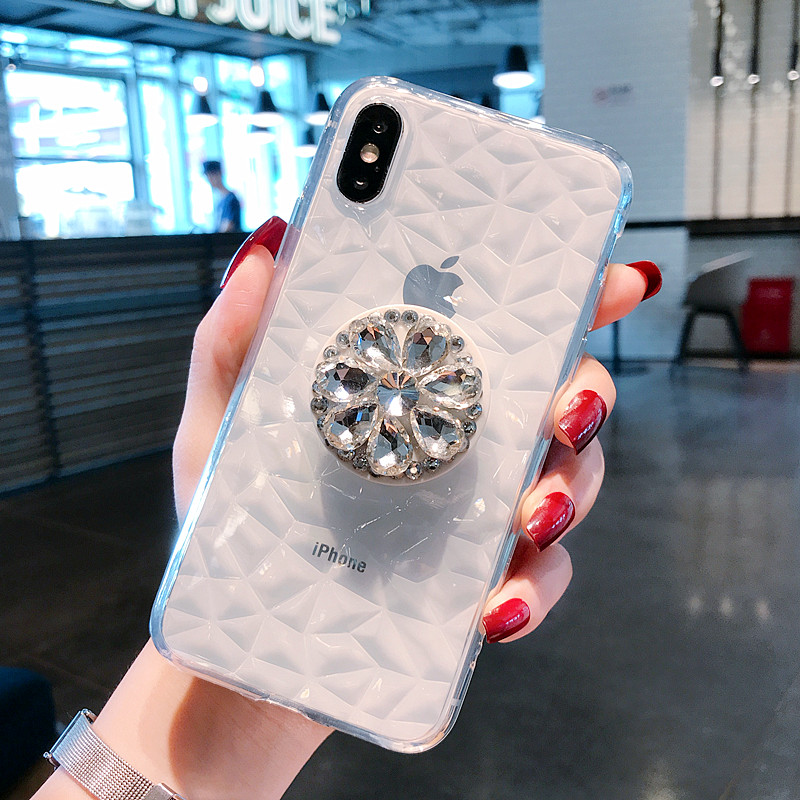 Diamond <font><b>Case</b></font> For <font><b>Huawei</b></font> Nova 3 3i 3e 4 P30 P20 Lite Plus Mate <font><b>20</b></font> Lite <font><b>Pro</b></font> Y9 Y7 Y6 Y5 Prime <font><b>Pro</b></font> 2018 P Smart 2019 Bracket Cover image