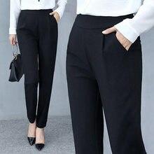 plus size2021 spring and autumn green black suit pants women mid-waist pants office ladies pants fashion solid color pants