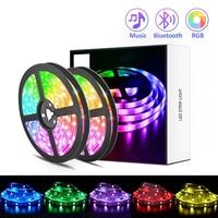 LED Streifen Licht TV dekor RGB 5050/SMD2835 Flexible Band DIY Led Licht Streifen RGB Klebeband Diode DC 12V Telefon app bluetooth luz led