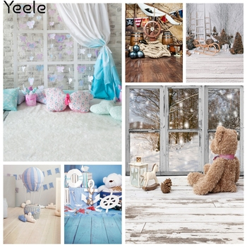 Yeele Christmas Party Photocall Window Snow Beer Photography Backdrops Personalized Photographic Backgrounds For Photo Studio