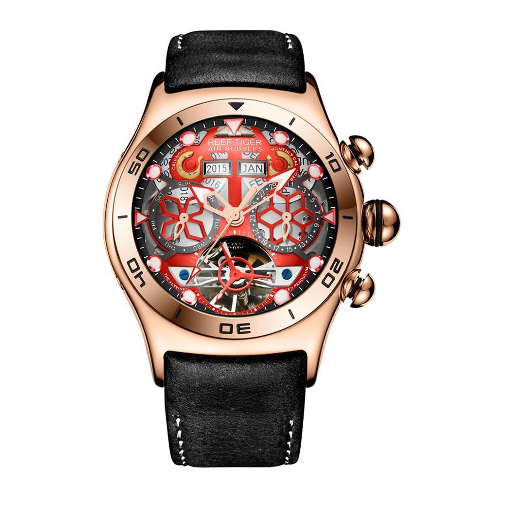 Permalink to watch men,mens automatic mechanical watches Reef Tiger gold luxury fashion waterproof wristwatch sport relogio masculino RGA703