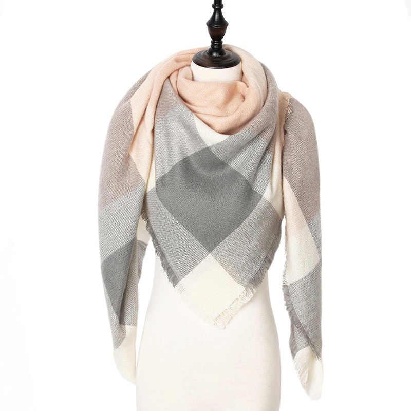 теплый кашемировый зимний шарф женский платок 2019 качество хорошее шерсть шарфы женские,модные плед шарфы платки палантины,большой шарф в форме треугольника,шарф мягкий и приятный на ощупь