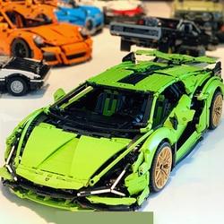 IN STOCK Technic Lamborghinies RC Car SIAN FKP37 Roadster Model 81996 Building Blocks Bricks With Toys For Kid