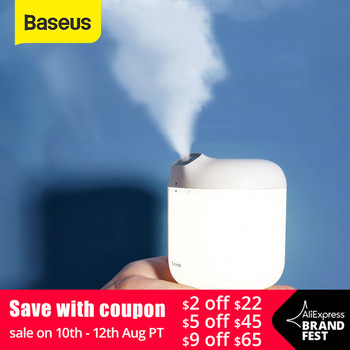 Baseus Humidifier Air Humidifier Purifying For Home Office 600ml Large Capacity Air Humidifier Humidificador With LED Lamp free shipping parts new air humidifier domestic large capacity humidifier humidification mute office mini aromatherapy timing