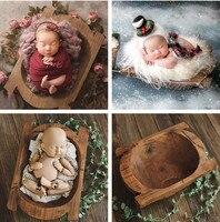 Newborn Photography Prop Photography Baby Props Photo Props Baby Studio Accessori Retro Wooden Boat Newborn Shoot Accessori