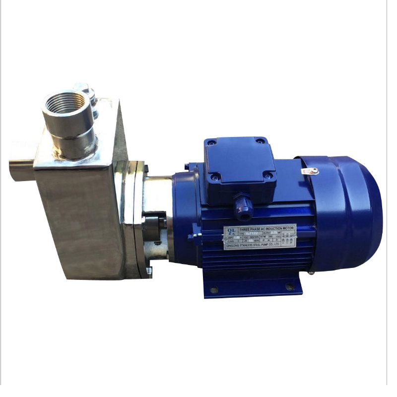 Stainless Steel Self-priming Corrosion Resistant Chemical Low Temperature Centrifugal Food Grade Pump 25FB-8